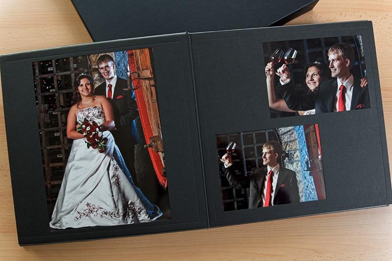 Hochzeitsalbum mit ausbelichteten Fotos