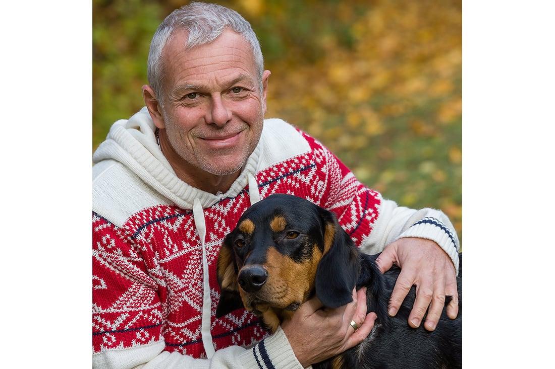Portraitfoto mit Hund