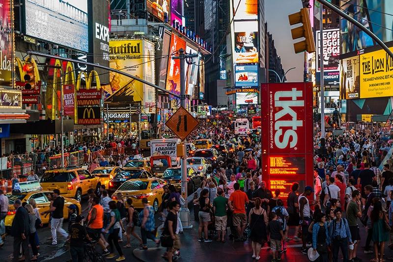 Nachtaufnahme von New York City