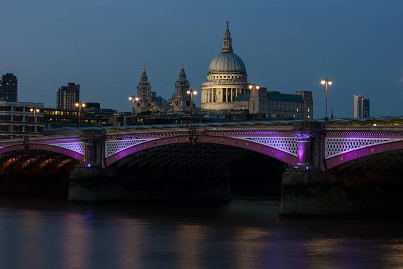 Nachtaufnahme von London