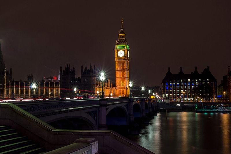 Nachtaufnahme Big Ben London