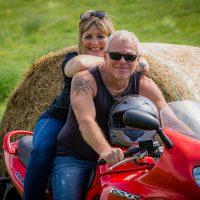 Paarshooting mit Motorrädern