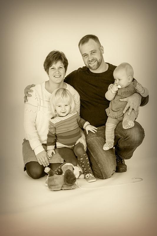 Ein Familienfoto mit kleinen Kindern