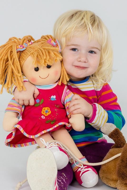 Kinderfoto mit Spielzeug