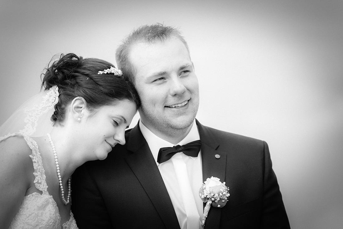 Hochzeitsbild schwarz-weiß mit weichem Kontrast