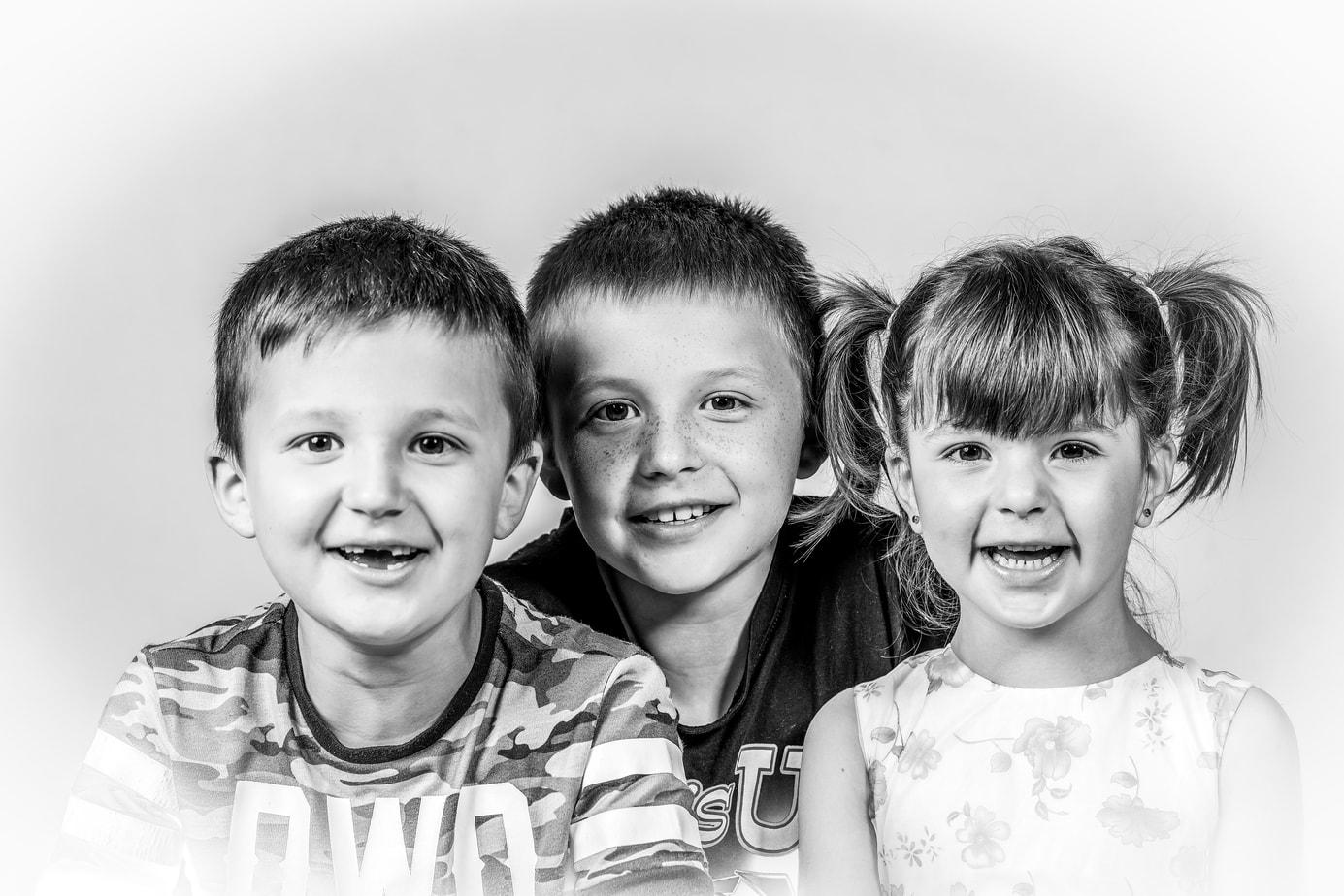 Familienfotos im Studio