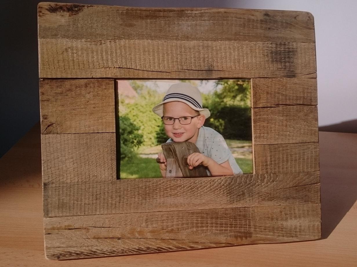 Foto auf Holz mit Wildeicherahmen