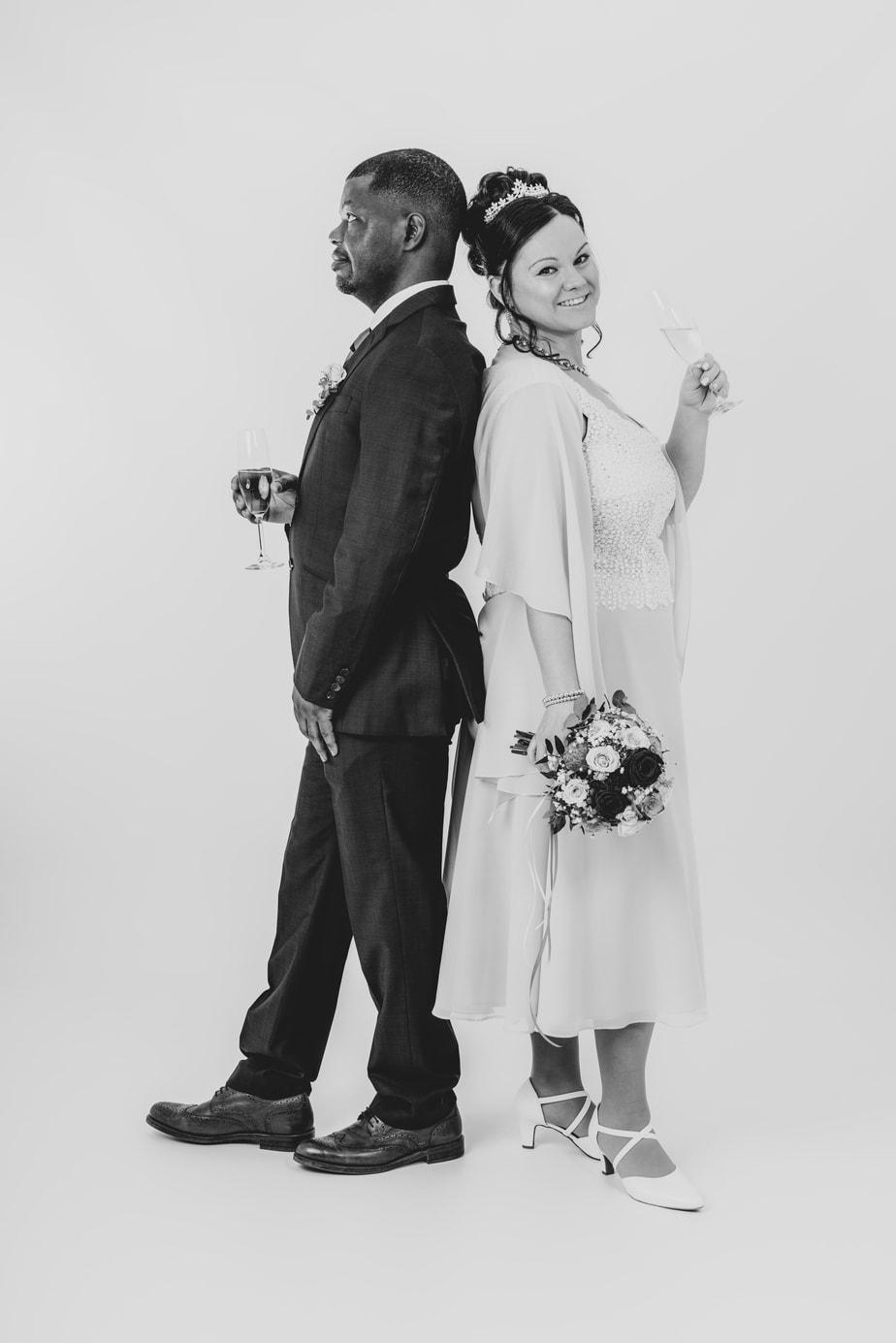 spontane Hochzeitsfotos im Studio
