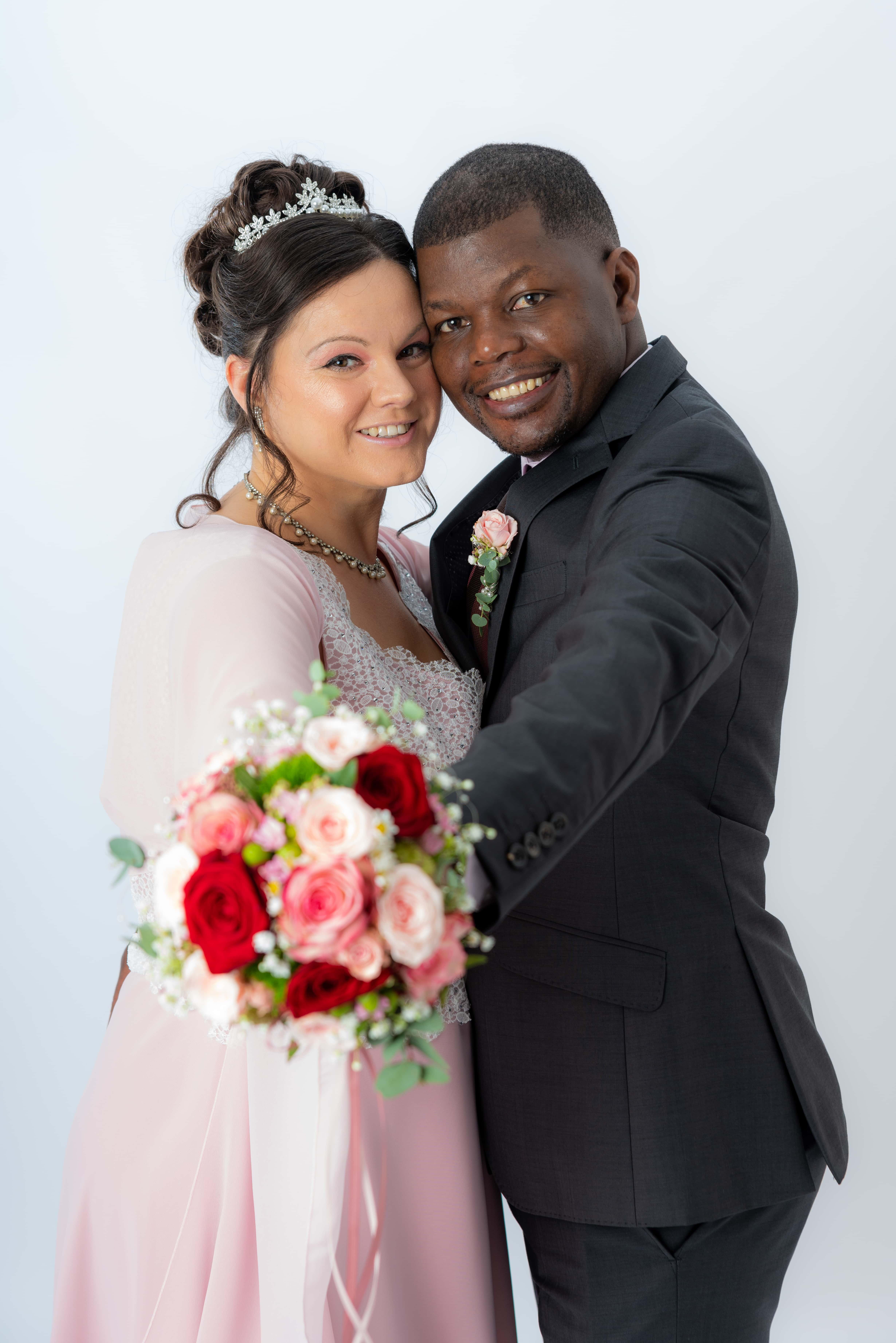 Studiofoto zur Hochzeit