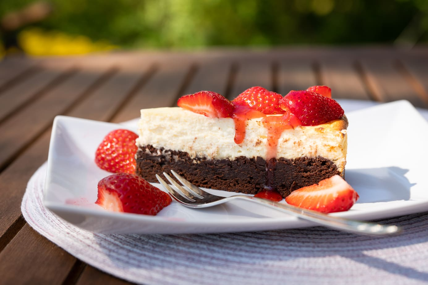 Kuchen auf der Terrasse