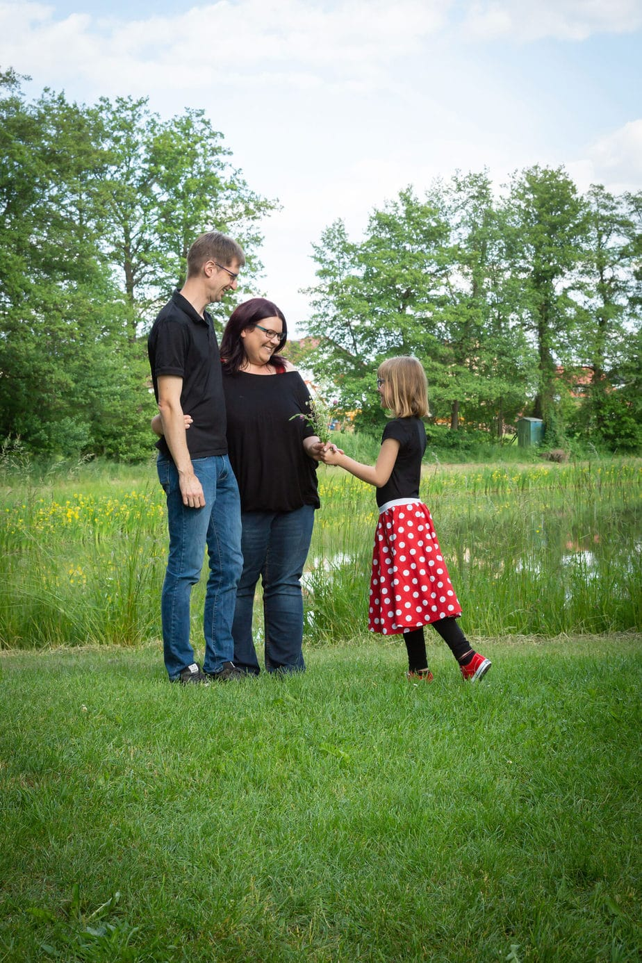 Spontanes Bild beim Familienshooting