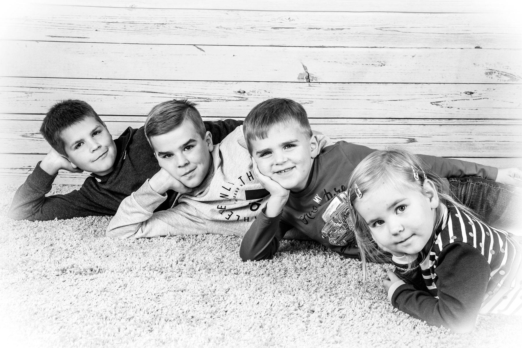 Familienfotos im Kindergarten