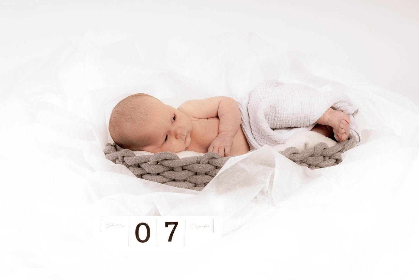 Babyfotosmit Herz