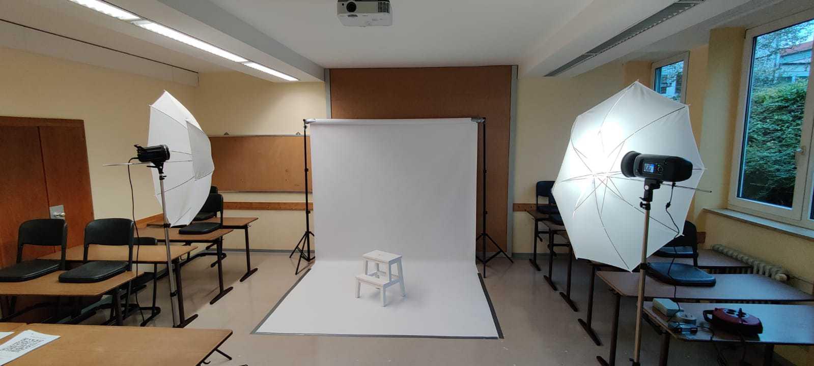 Mobiles Studio der Schulfotografie